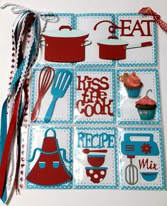 Pocket Letter Swap / Pocket Letter Pals / Dec 2015. Theme Kitchen Front Side