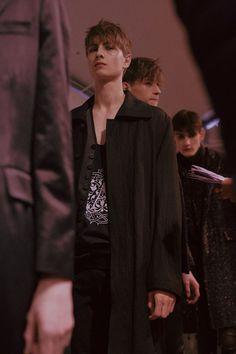 Ann Demeulemeester AW15 Longline Black Jacket Print Top
