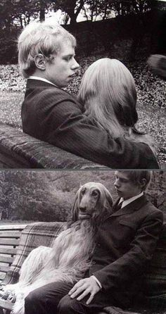 man and his lady dog. #humor #dogs