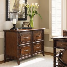 Bal Harbor Laguana Beach File Chest in Sienna Rosewood #accent #office #homeoffice #tropical #storage #beachhouse #lakehouse #homedecor #interiors #interiordesign
