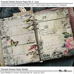 2017 Planner Printable Planner Pages 2017 by ManuDesignStudio
