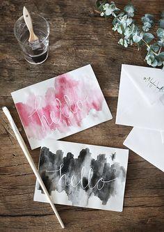 DIY: Egna vykort med akvarellfärg