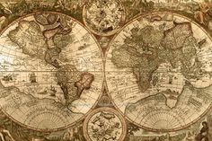 VINTAGE LOOKING OLD WORLD MAP POSTER PHOTO PERFECT WALL ART PICTURES SEPIA TONE