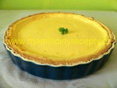Jemný tvarohový koláč Pie Dish, Pudding, Dishes, Kitchen, Food, Cooking, Tablewares, Eten, Puddings