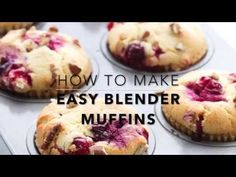 These easy low carb muffins are so easy to whip up and bursting with tart cranberries. A deliciously healthy way to start a chilly fall morning! Low Carb Sweets, Low Carb Desserts, Low Carb Recipes, Paleo Dessert, Dessert Recipes, Paleo Desert Recipes, Bad Carbohydrates, Cranberry Muffins, Blender
