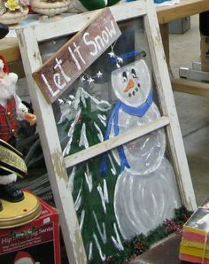 painted christmas screens - Google Search
