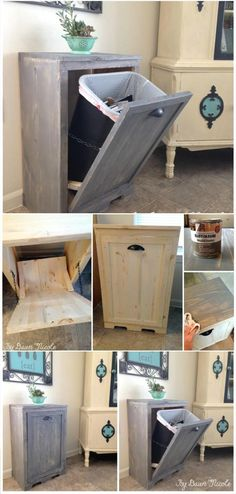 Hand-built wooden Tilt-out Trash Can Cabinet – 22 Genius DIY Home Decor Projects You Will Fall In Love With! Hand-built wooden Tilt-out Trash Can Cabinet – 22 Genius DIY Home Decor Projects You Will Fall In Love With! Diy Home Decor On A Budget, Diy Home Decor Projects, Decorating On A Budget, Cheap Home Decor, Decor Ideas, Diy Ideas, Home Decoration, Decor Diy, Decor Room