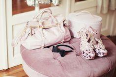 miu miu bag & shoes - Ladurée box - Viktor & Rolf headband - Maison d'un rêve pouffe