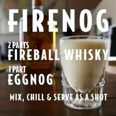 Super Ideas For Holiday Drinks Alcohol Christmas Fireball Fireball Drinks, Fireball Recipes, Alcohol Drink Recipes, Alcoholic Drinks, Bar Drinks, Cocktail Drinks, Yummy Drinks, Cocktail Recipes, Whiskey Cocktails