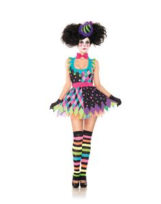 Sexy Scary Clown Adult Womens Costume