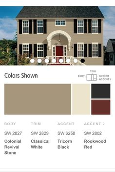 Sherwin Williams exterior paint colors for our next house.