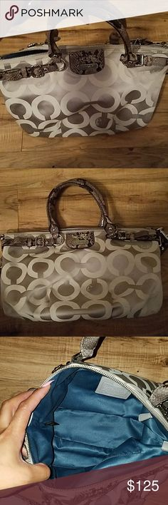 Coach Handbag and matching wallet Great used condition handbag and matching wallet. Coach Bags Satchels