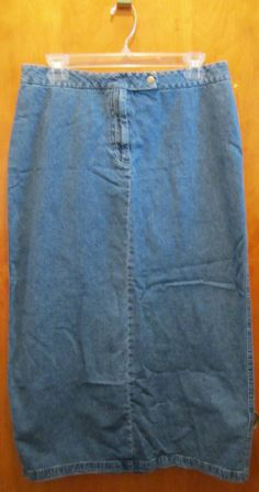 ORVIS Jean Skirt Womens Size 16 Denim Long Western Boho Prairie ...