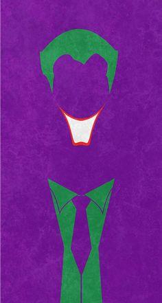 "Minimalist poster: 'Joker' (Batman - Joker) ""Joker by… Le Joker Batman, Harley Quinn Et Le Joker, Spiderman, Art Du Joker, Joker Kunst, Poster Minimalista, Posters Vintage, Vintage Movies, Joker Wallpapers"