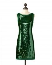 The Michigan State University Sequin Tank Dress in Green
