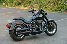 Blacked Out Harley Fatboy