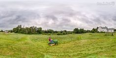 360° Timelapse, Mowing the Lawn Incredible Photography