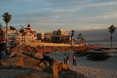 Coronado Beach, California. Been here one time.. it was amazing! I need a vaca soon.