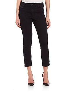 Kendall   Kylie Pierced Skinny Jeans