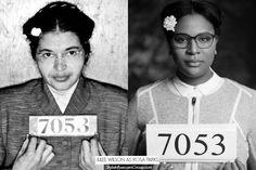 Huffington Post Fashion and Beauty Editor Julee Wilson-Wareham as Rosa Parks