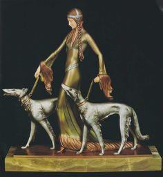 Art Deco sculpture, after Demetre Chiparus (1886-1947).