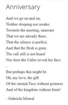 ballad poem by gabriela mistral