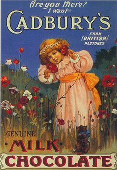 vintage chocolate ads and poster design Pub Vintage, Vintage Candy, Vintage Labels, Vintage Ephemera, Vintage Postcards, Vintage Food, Vintage Advertising Posters, Old Advertisements, Advertising Signs