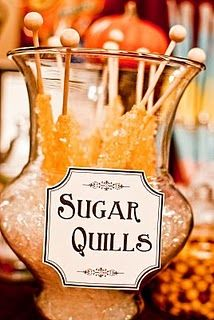 Those rock-sugar-on-a-stick things = Sugar Quills
