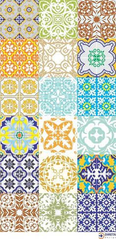 Love these tiles Tile Art, Mosaic Tiles, Tile Patterns, Textures Patterns, Tile Design, Pattern Design, Traditional Tile, Portuguese Tiles, Decoupage Paper