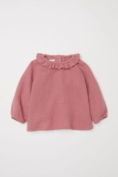Organic Cotton Blouse In Raspberry pink   H&M US