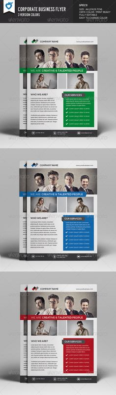 Buy Flyer by LeafLove on GraphicRiver. This layout is suitable for any project purpose. Business Flyer Templates, Flyer Design Templates, Print Templates, Psd Templates, Green Marketing, Company Profile Design, Professional Profile, Project Proposal, Advertising Agency