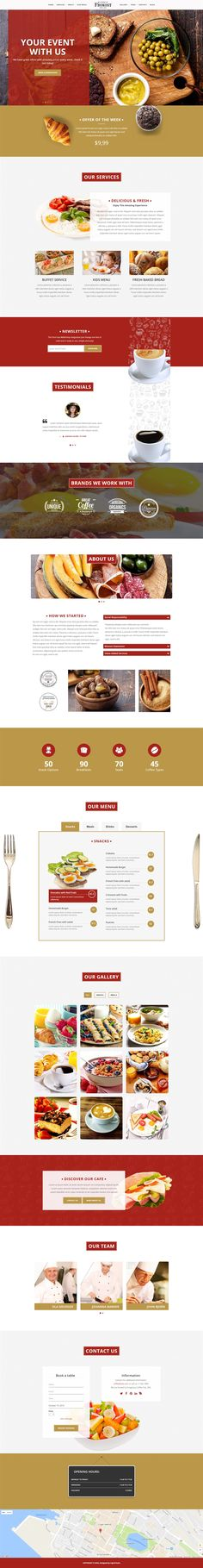 Frokost - One Page Restaurant Cafe WordPress Theme, Retail Food