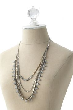 Sutton necklace by Stella & Dot. Photo of mixed metal versatile necklace that can be worn 5 ways.