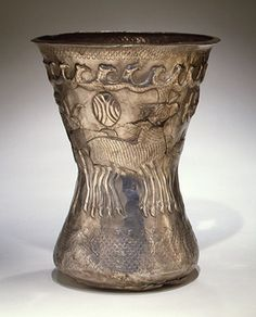 4th c. Silver Beaker with birds and animals