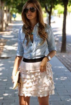 Fenomenales faldas casuales | Viste la Moda 2015