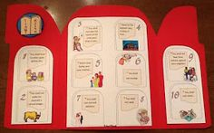 Bible Fun For Kids: Moses and the 10 Commandments Religion Activities, Teaching Religion, Bible Activities, Catholic Religion, Sunday School Crafts For Kids, Sunday School Activities, Bible Lessons For Kids, Bible For Kids, 10 Commandments Craft