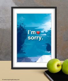 A4. I'm sorry. Ho'oponopono healing Sentence by inspiring4U Mantra, We Are All One, Im Sorry, Meditation Quotes, What Inspires You, Sale Poster, Typography Poster, Quote Posters, Oeuvre D'art