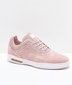 Diamond Supply Co. Suede Skate Shoes, Diamond Supply Co, Pastel Pink