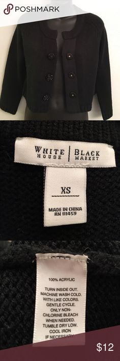 WHBM Super cute cardi. Middle button does not Stay closet. Perfect to wear it open. Price reflects it. Bundle and Save! (B6) White House Black Market Sweaters Cardigans