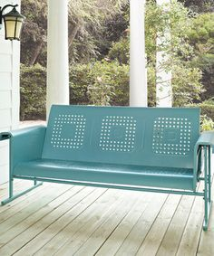 This classically inspired glider provides the perfect place to sit, sway and relax outdoors on a sunny day. Its durable, UV-resistant design has been built to weather the elements for years to come while still looking just as lovely as the day it arrived.