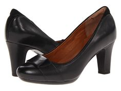 Clarks Society Disc Black Leather $135