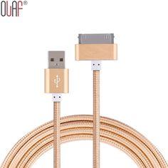 원래 1 m usb 금속 나일론 꼰 데이터 동기화 충전 충전기 케이블 iphone 4 4 s ipad 2 3 아이팟