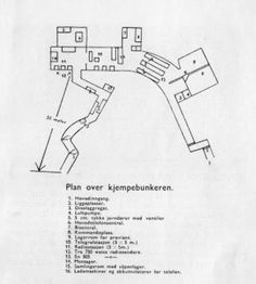 Map of bunker at Festung Furulund, Oslo Pink Triangle, Bunker, Oslo, Floor Plans, Diagram, Map, Personalized Items, Location Map, Maps