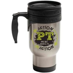 """PT – We Get Results"" Hot/Cold Travel Mug from http://shop.advanceweb.com."