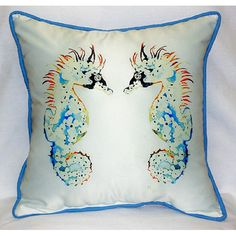 "Found it at Wayfair - Sea Horses 22"" Indoor/Outdoor Throw Pillow"