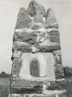 MN Pipestone MN 1937 RPPC American Indian PEACE FOR EVER Carin Pipestone National Monument WORLDS LARGEST Peace Pipe located in Pipestone3 by UpNorth Memories - Donald (Don) Harrison, via Flickr