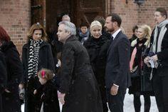 Norwegian Royal Family attended the funeral of Anbjørg Sætre Håtun, godmother of Emma Tallulah Behn.
