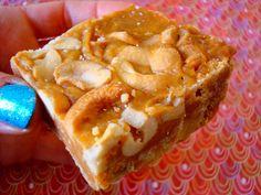 Salted butterscotch cashew shortbread bars