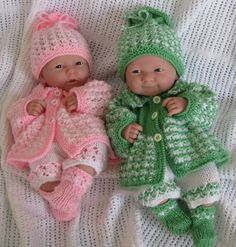KNITTING PATTERN FOR DOLLS MATINEE SET FITS 14-15  BERENGUER DOLL OR SIMILAR