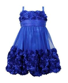 New-Girls-Bonnie-Jean-4T-Royal-Blue-Bonaz-Bubble-Dress-Christmas-Holiday-Pageant